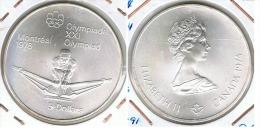 CANADA 5 DOLLARS  MONTREAL  REMO 1974 PLATA SILVER - Canada