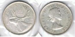 CANADA 25 CENTS DOLLAR 1964  PLATA SILVER D13 - Canada