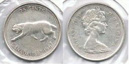 CANADA 25 CENTS DOLLAR 1967  PLATA SILVER D18 - Canada