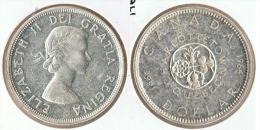 CANADA DOLLAR 1964 CHARLOTTETOWN PLATA SILVER D12 - Canada