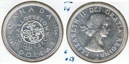 CANADA DOLLAR 1964 CHARLOTTETOWN PLATA SILVER D20 - Canada