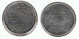 EGIPTO 2 PIASTRAS 1917 PLATA SILVER - Egipto