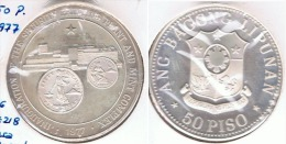 FILIPINAS 50 PISO CASA MONEDA 1977 PLATA SILVER - Filipinas
