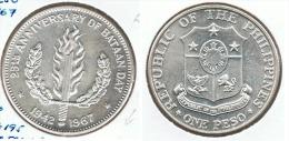 FILIPINAS PESO BATAN DAY 1967 PLATA SILVER - Filipinas
