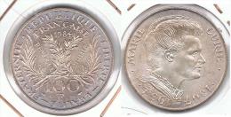 FRANCIA FRANCE 100 FRANCS CURIE 1984 PLATA SILVER - Francia