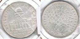 FRANCIA FRANCE 100 FRANCS PANTEON 1983 PLATA SILVER.D30 - Francia