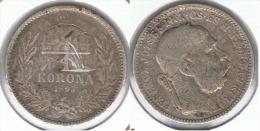 HUNGRIA IMPERIO CORONA 1893 PLATA SILVER D29 - Hungría