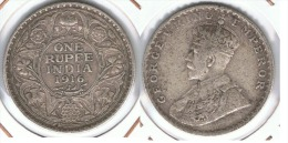 INDIA GEORGE V 1 RUPIA RUPEE 1916 PLATA SILVER.D50 - India
