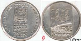 ISRAEL 10 LIROTS 1973 25 ANIVERSARIO PLATA SILVER - Israel
