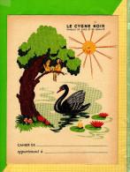 PROTEGE CAHIER : Produit D´entretien LE CYGNE NOIR  Oiseaux Champignons - Protège-cahiers
