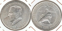 PARAGUAY 300 GUARANIES 1973 STROESSNER PLATA SILVER - Paraguay