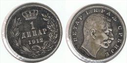 SERVIA DINAR 1912 PLATA SILVER D46 - Serbia