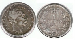 SERVIA DINAR 1912 PLATA SILVER D47 - Serbia