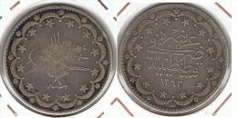 TURQUIA IMPERIO OTOMANO 1293  PLATA SILVER P - Turquia