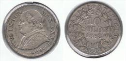 VATICANO PIO IX 10 SOLDI 1868 PLATA SILVER D43 - Vaticano (Ciudad Del)