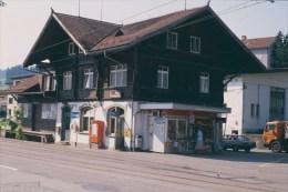 Railway  Station Color Slide Eisenbahn Switserland, Speicher 30-07-1991 M-12 - Trains
