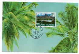 POLYNESIE FRANCAISE--carte Maximum  UA POU Cachet  PAPEETE  R.P Du 30/08/91 - Cartoline Maximum