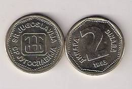 Yugoslavia 2 Dinara 1993. UNC KM#155 - Yugoslavia