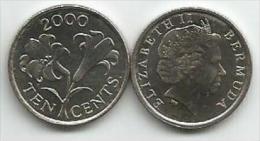Bermuda 10  Cents 2000. - Bermudes