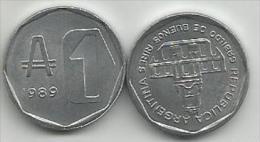 Argentina 1  Austral 1989. High Grade - Argentine