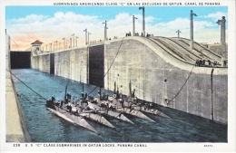 "CANAL  ZONE  CLASS  ""C'  SUBMARINES  At  GATUN  LOCKS  * - Canal Zone"