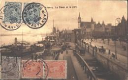 O) 1922 BELGIUM, ANTWERP, THE  STEEN AND  PORT, POSTAL CARD TO MEIXICO, XF - Belgique
