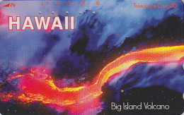 Télécarte Japon - Site HAWAII - VOLCAN - BIG ISLAND VOLCANO - VULCAN Japan Phonecard - VULKAN / 110-016 - 152 - Volcanos
