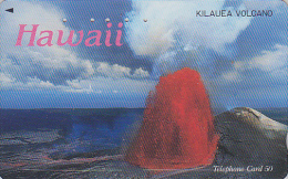 Rare Télécarte Japon - Site HAWAII - VOLCAN - KILAUEA VOLCANO - VULCAN Japan Phonecard - VULKAN / 110-011 - 153 - Volcans
