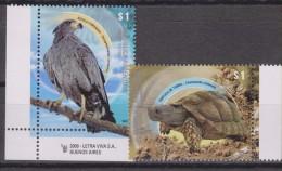 RO)2009 ARGENTINA, BIRD OF PREY - EAGLE, TORTOISE, MNH - Unused Stamps