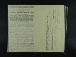 Clemence Van De Velde Vve Van Den Noortgate Godveerdegem 1857 Oosterzele 1947 /64/ - Devotion Images