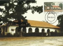 Transkei 1984 Buildings ,Qumbu,Maximum Card - Transkei