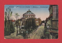 Bucuresti  ---   Atheneum Und Franklinstrasse --Cachet Censure --  1918 - Roumanie