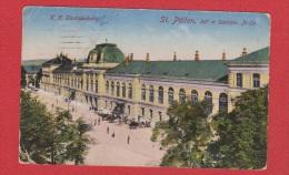 St Polten  ---Staatsbahnhof  ---    Cachet Censure  Colmar  --   12/4/1918 - St. Pölten