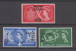 Qatar  1960 QE II  Overprinted Scouts 3v MNH # 57526 S - Padvinderij