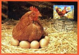 Australia 2005 Down On The Farm 50c Chloe The Chicken Maximum Card - Cartes-Maximum (CM)