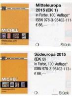 MICHEL Mittel-/Süd-Europa Katalog 2015/2016 New 132€ Part 1+3 A UN CH Genf Wien CZ CSR HU Italy Fiume Jugoslavia Vatikan - Telefonkarten