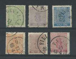 SUEDE - YVERT N° 6/11 OBLITERES - COTE = 514 EUROS - Sweden