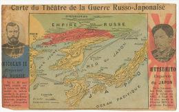 Guerre Russo Japonaise Russo Japanses War Nicolas II Tsar Czar  Mutsuhito Carte Geo Map China Korea Mandchuria - Russia
