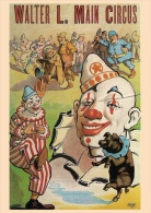 "OLD CIRCUS POSTER - Clown - Pig - Policeman - Printed In Ukraine (""Moya Lystivka"" Edition), 2014 - Polizia – Gendarmeria"