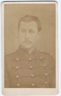 Photographie Ancienne, CDV, Melandri (Paris, France), Portrait Homme, Militaire, Moustache, Costume - War, Military