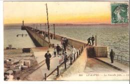 Le Havre (Seine-Maritime)-1908-La Nouvelle Jetée-animée-colorisée - Le Havre