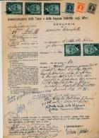 1948 PRO VITTIME POLITICHE MARTINI 2 LIRE VERDE X 5 SU DOCUMENTO COMPLETO - Altre Collezioni