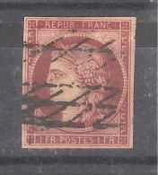 France, CERES N° 6  , Belle Nuance Obl GRILLE SANS FIN , TB !!!!!! - 1849-1850 Cérès