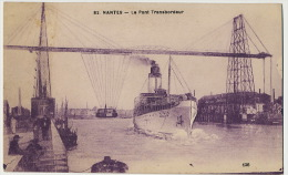 "Bateau "" Romania ""passant Sous Pont Transbordeur Nantes France Ship Romania - Roumanie"