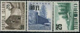 GN0714 Norfolk 1960 Building Prisons Aircraft Overprint 3v MNH - Ile Norfolk