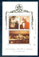 VATICAN CINDERELLA BLOCK 3v 1980 VISIT POPE JOHN PAUL II TO GERMANY * GOLDEN SERIES No 10 * COAT OF ARMS * MNH - Blocks & Sheetlets & Panes