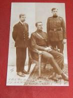 Le Roi Albert I, Les Princes Léopold Et Charles - Familles Royales
