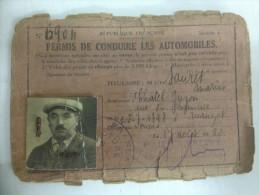 - Permis De Conduire - 17 Aout 1920 - Sauret Marius - - Vieux Papiers