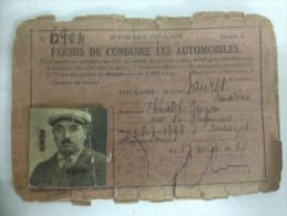 - Permis De Conduire - 17 Aout 1920 - Sauret Marius - - Oude Documenten