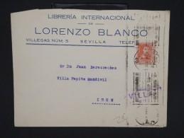 ESPAGNE--Env. Pour France Période 1930/40 Avec Censure    Dispersion D ´une Archive    P6559 - Marcas De Censura Nacional